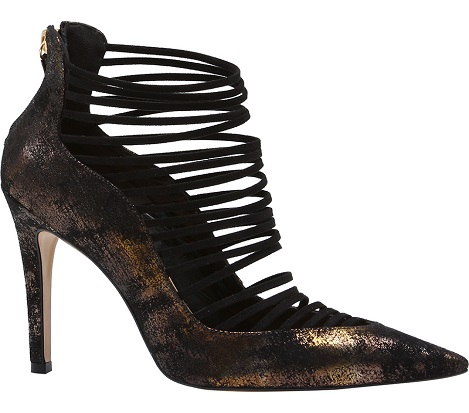 Stunning Heels with front Gold Strapping