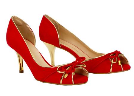 Cabra Leather Semi-Court Shoes, Kitten Heel (Suede)