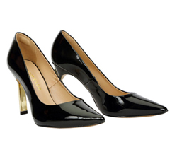 Leather Court Shoes with Pointy Toe