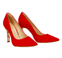 Suede Leather Court Shoes with Pointy Toe (Suede)
