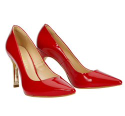 Patent Leather Court Shoes with Pointy Toe