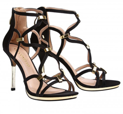 High ankle leather sandals