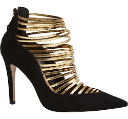 Stunning Heels with Gold Strapping