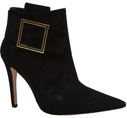 Ankle boots with feature buckle