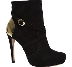Ankle Boots with Gold Inset